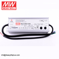 7 Years Warranty 80W 54V Mean Well LED Driver HLG-80H-54A With PFC Function