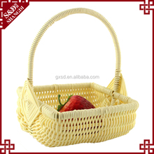 Wholesale fruit packing basket small plastic wicker baskets with handles