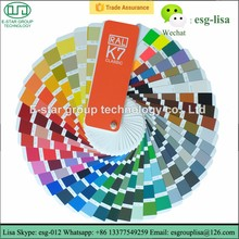 Ral K7 paint color chart fabric shade card