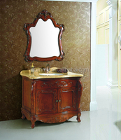 Hot Sale Modern Floor Model Wood Bath Vanity Wholesale Bathroom Cabinet For sale