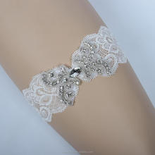 Hot Selling Crystal Applique Wedding Garter,Bridal Garter,Sexy Women Leg Garter Belt Handmade HY1017
