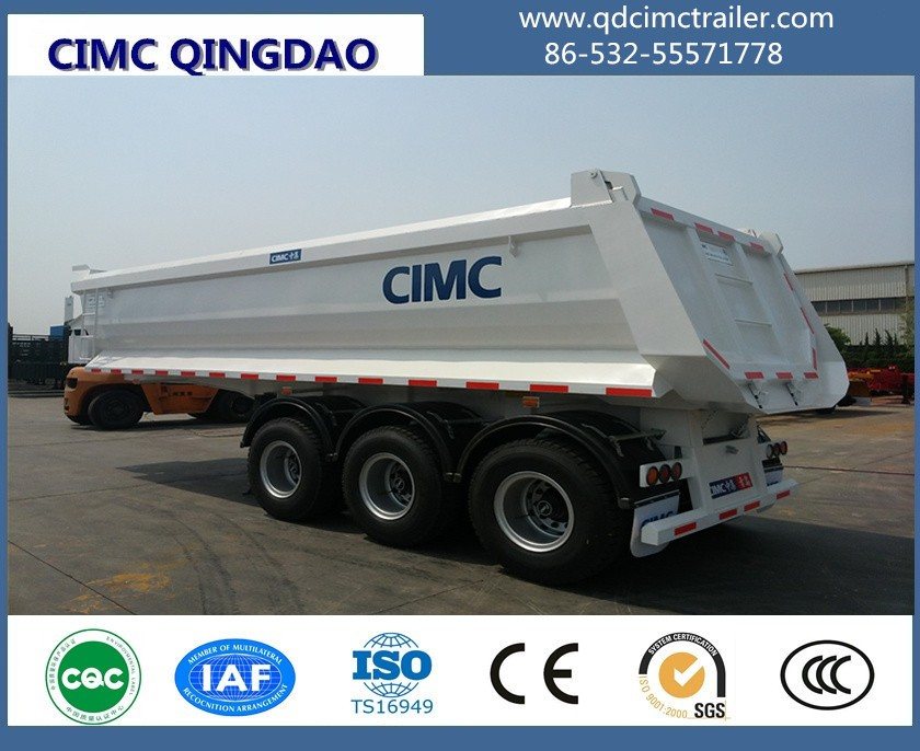 20CBM Dump tipper semi trailer for sand stone ghana