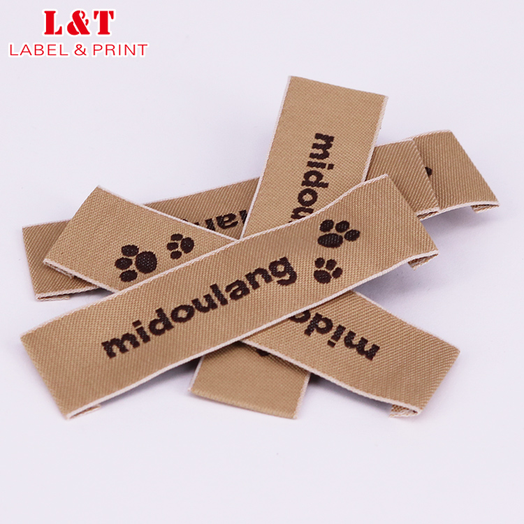 Guangdong Luxury Clothing Textile Label Woven Satin Size Tags