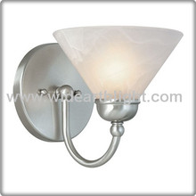 UL CUL Listed Brushed Nickel Small Up Indoor Wall Light With Glass Shade W50176