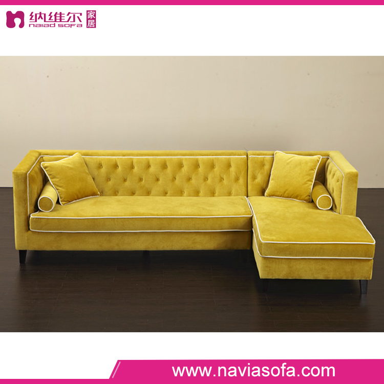 Living room furniture sofa sets 3 seater cheap yellow for Living room sofas on sale