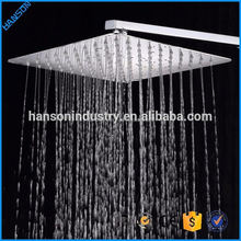 ABS Chrome Bathroom 10cm square Waterfall Cheap Shower Head With S.S Arm