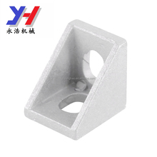 OEM customized Aluminum Corner Bracket L Shape Right Angle Joint Bracket Fastener