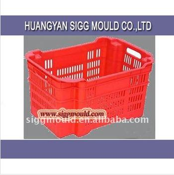 Customized mesh plastic crate/plastic turnover box/plastic basket for fruit and vegetable mould