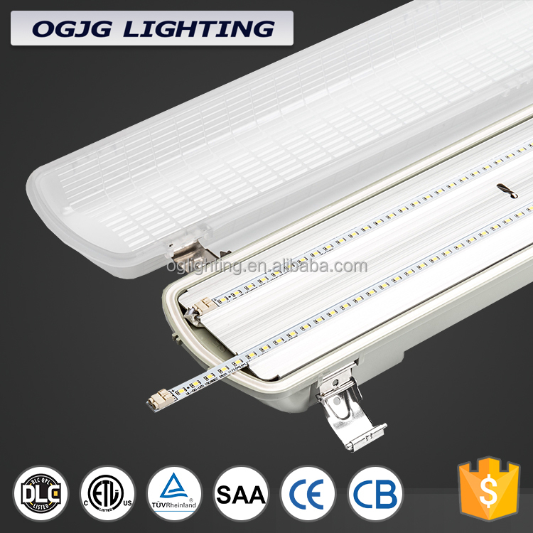 super bright Etl Listed ip65 vapor tight hanging linear office fitting triproof batten light fixture for freezer