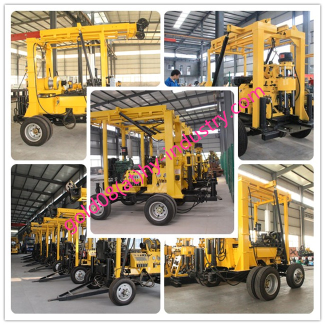 Protable 100m,250m,600m Portable Mining Mobile Water Well Drilling Rigs for Sale