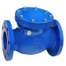 DIN F6 Cast Iron Non-return Flap Valve with Flange End
