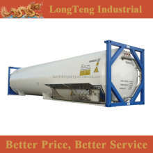 ASME standard T75 40ft cryogenic gas tank container for LNG and Ethylene