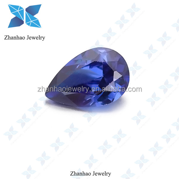 wholesale price pear cut blue topaz synthetic cz stone