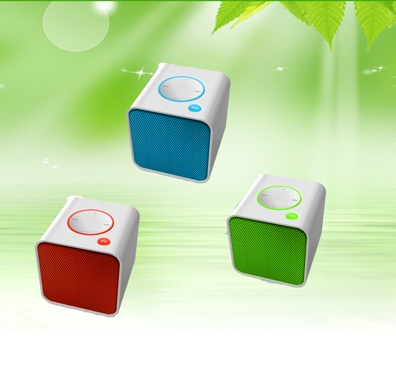 2016 Mp3 Rechargeable With Memory Card Multifunction Portable Amplifier Music Mini Bluetooth Blue Tooth Speaker