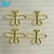 Funny stationery butterfly shape colorful metal paper clip