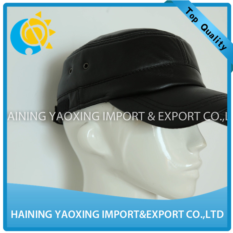 2017 new leather baseball cap canada black manufacture