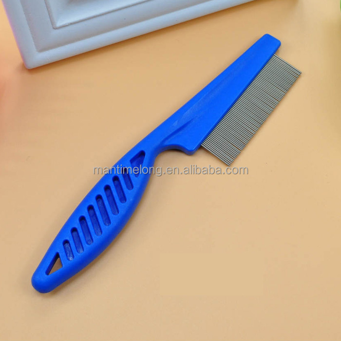 Pet comb fine teeth stainless steel needle flea comb cats and dogs combs