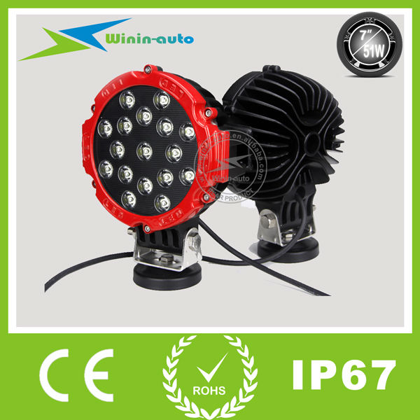 Hot sales!!!! Good looking 51W led driving light off road led work light for cars SUV WI7511
