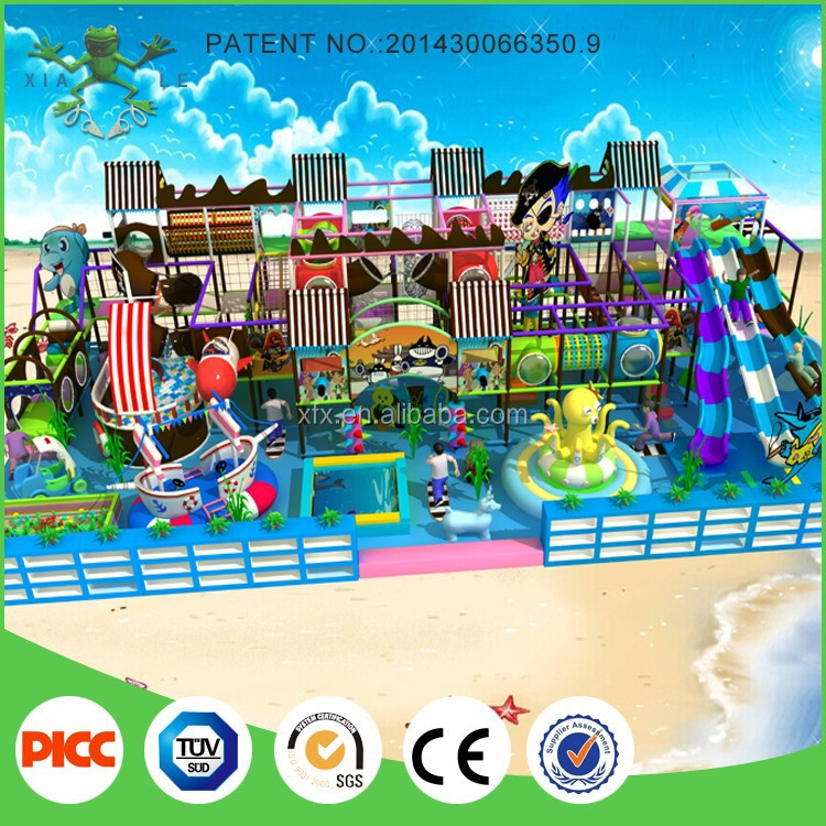Commercial indoor play center ocean theme kids play ground equipment