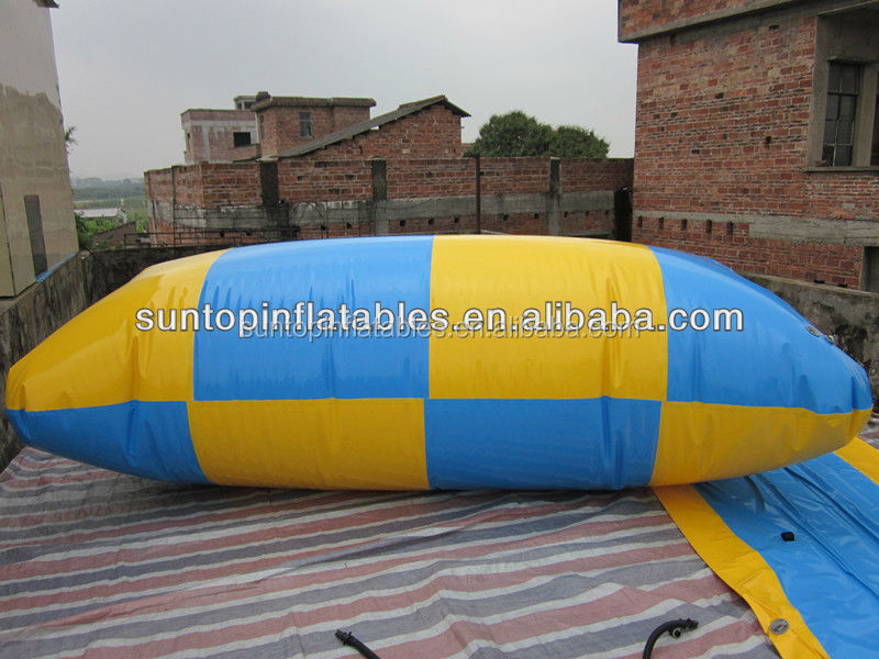 hot sales inflatable water catapult blob for adult and child with best quality materials:09mm PVC Tarpaulin, from PLATO
