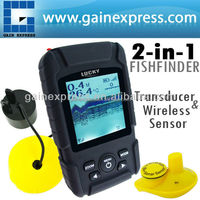 Waterproof 2-in-1 Wireless Wired Fishfinder 40m Sonar Transducer 100m Depth 180m