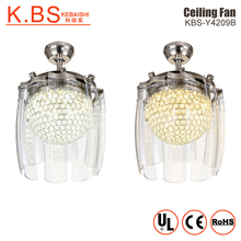 Modern Chandelier Remote Control Led Crystal Energy Saving Ceiling Fan With Light