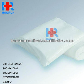 100% absorbent medical gauze roll