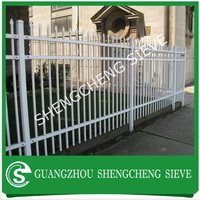 Promotional Factory hot galvanized steel grills fence tubular grille fencing