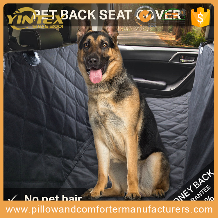 Pets Driving out luxury pet car seat cover machine washable padded comfortable pet dog car seat cover with custom design pockets