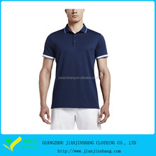 Classical Navy Blue Dri Fit Pique Fiber Golf Patterned Polo Shirts For Man