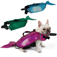 High quality factory dog life jacket, mermaid pet costume swimming clothes