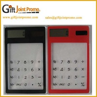 Advertising Customized Logo Plastic Transparent solar Calculator