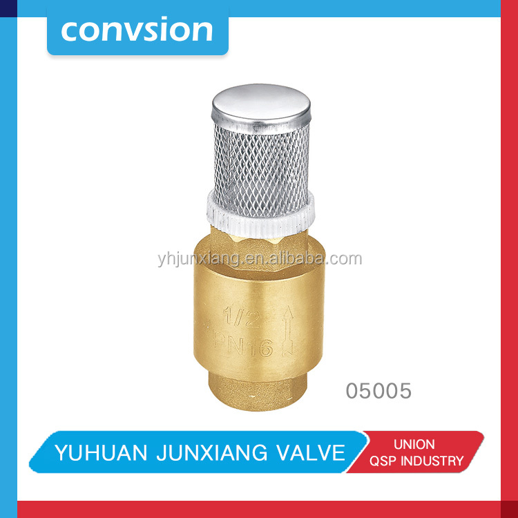 durable creative fuel line high pressure brass check flange suction foot valve 1/2'' 3/4'' 1''2'' 3'' 4''