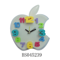 Custom shape best selling various colors kids apple shaped alarm clock