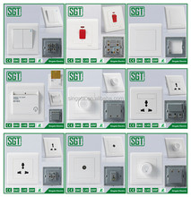 Plastic white touch panel light wall switch one gang two way electric wall push button switch