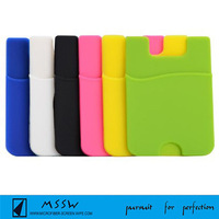 2016 compatible wholesale Silicone Smart Card Wallet for iphone