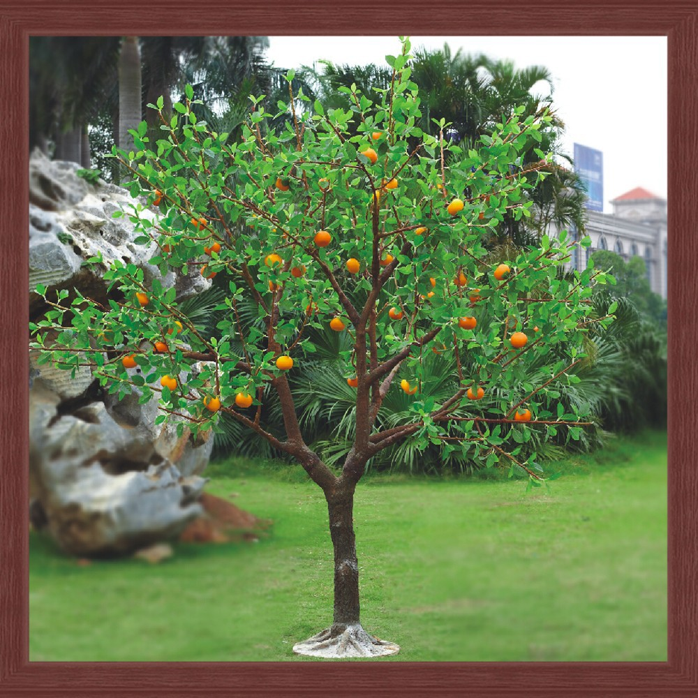 Led Artificial Fake Fruit Led Trees Decorations Park Garden ...