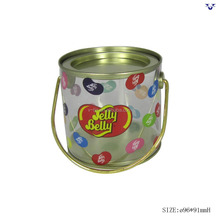 Manufacturer new product candy tin cans with handle