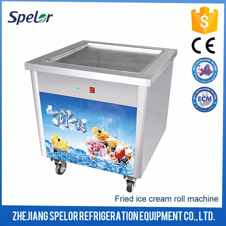 Elegant Appearance Thailand Fried Roll Ice Cream Machine
