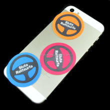 round custom sticker mobile phone screen cleaner