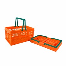 Fashion Foldable Plastic Handy Snacks Supermarket Basket