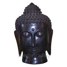 Buddha Head Bronze Sculpture
