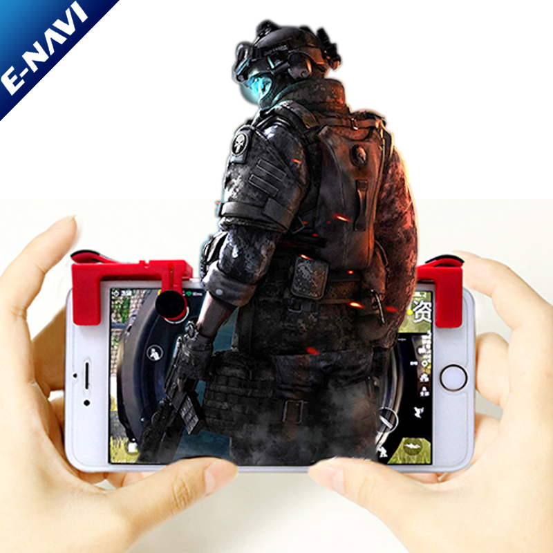 HOT Mobile Game Fire Button Aim Trigger Shooting Controller 2PCS
