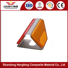 Two Sided Trapezoid Reflector for highway barrier