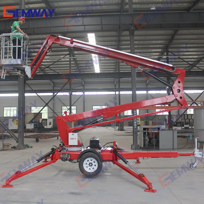 6m easy operation car trailer hydraulic lift with ce