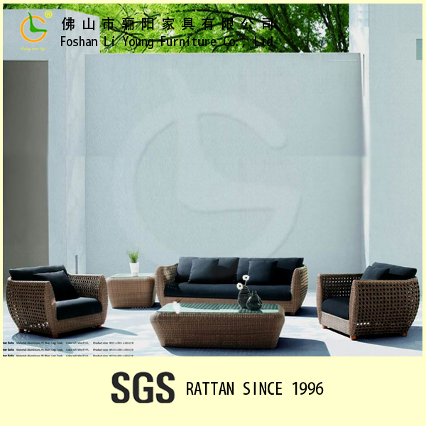 American style sofabed beautiful soft furniture rattan sofa set LG-SF2301