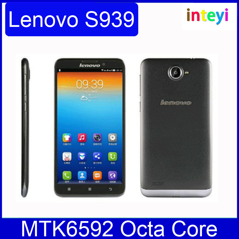 New Original Lenovo S939 Smartphone MTK6592 Octa Core 6 inch 3G 1GB RAM 8GB Android 4.2 1280x720 pixels GPS WCDMA