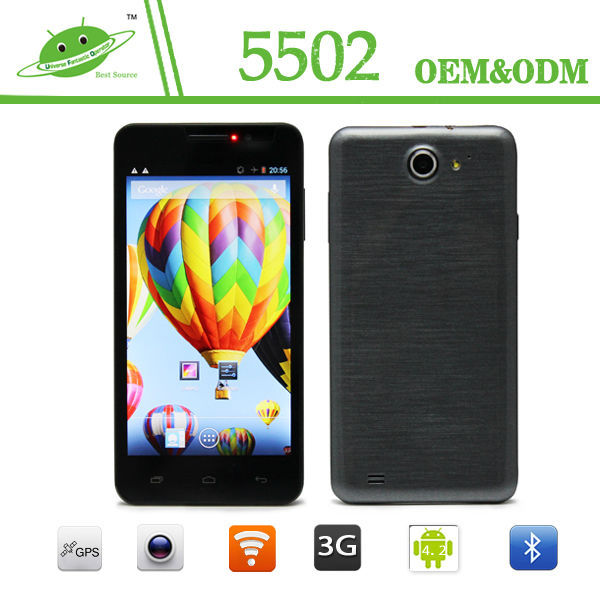 5.5 inch quad core HD 1280*720 MTK6582M 1G+8G 2.0/13.0 camera smart phone with hdmi output