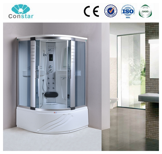 High quality fancy LED shower products,portable freestanding shower cabin with touch screen panel,3kw steam generator