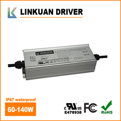 100-277VAC IP67 0-10V dimmable led driver 100W 1400mA 69-72V Constant Current Metal housing Waterproof